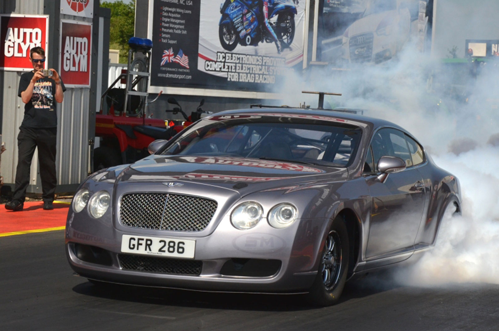 Bentley Continental GT drag racer