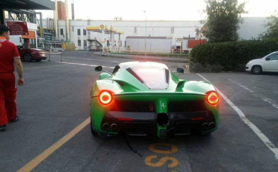 Jay Kay's green Ferrari LaFerrari