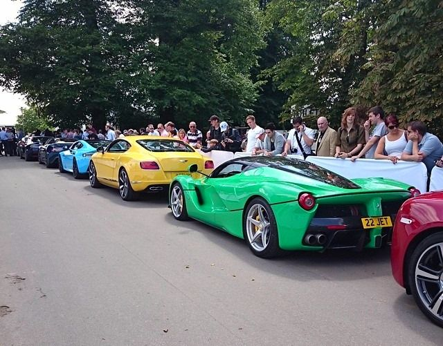 Supercars lined-up at Goodwood Festival of Speed