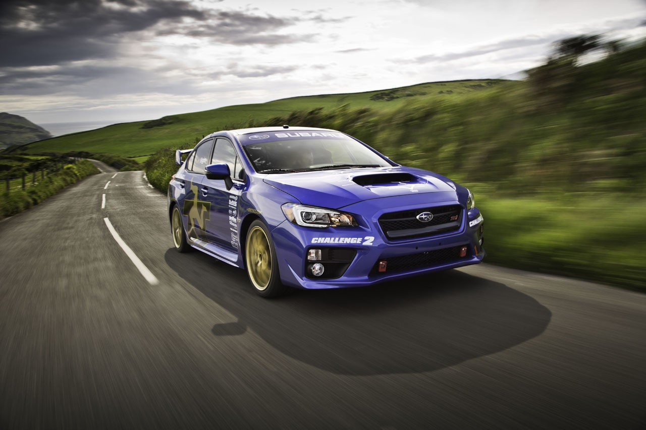 Subaru WRX STI at Isle of Man TT