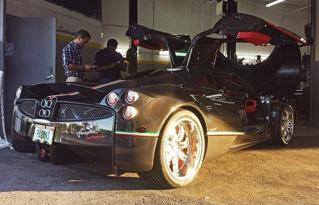 Kris Singh receives his Pagani Huayra