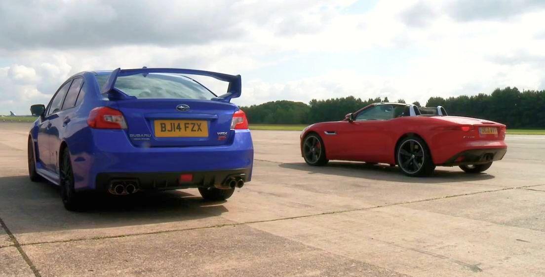 Subaru WRX STI vs Jaguar F-Type V6S