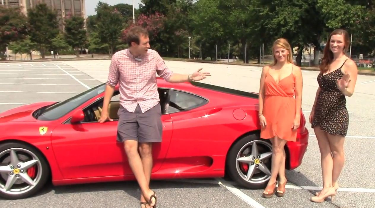 Women in a Ferrari 360 Modena