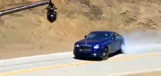Rolls Royce Wraith drifting for TopGear USA