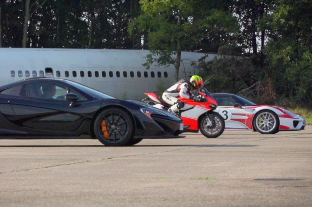 Mclaren P1 vs Porsche 918 vs Ducati 1199 Superleggera image