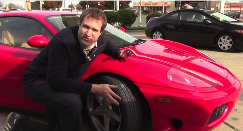 Doug deMuro with his Ferrari 360