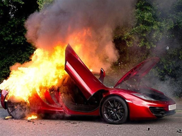 Supercars on Fire prank