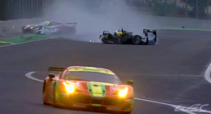Mark Webber crash from FIA WEC Sao Paulo