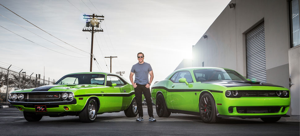 Jeff Dunham with his Dodge Challenger SRT Hellcat and Challenger RT