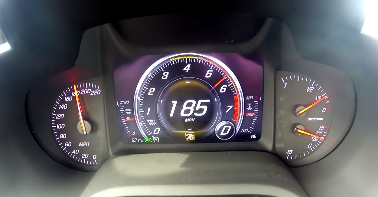 Corvette Z06 0-185 mph acceleration run
