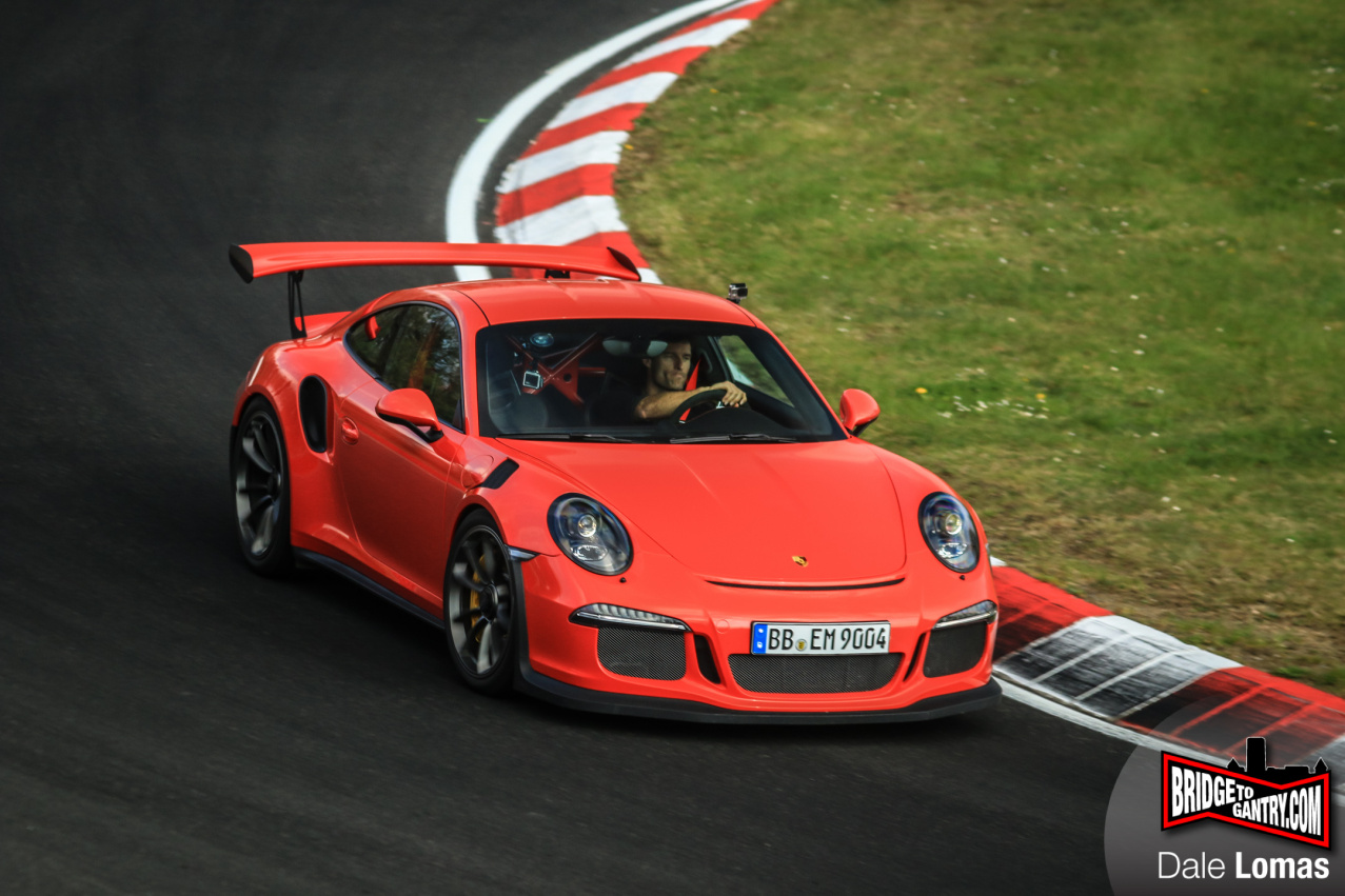 Mark Webber testing Porsche 911 GT3RS at Nurburgring 1