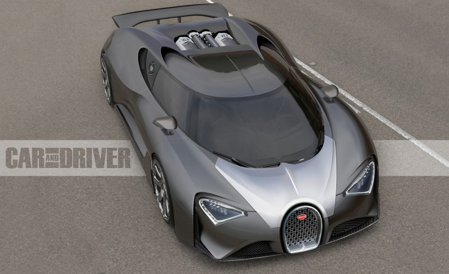 2017 Bugatti Chiron rendering