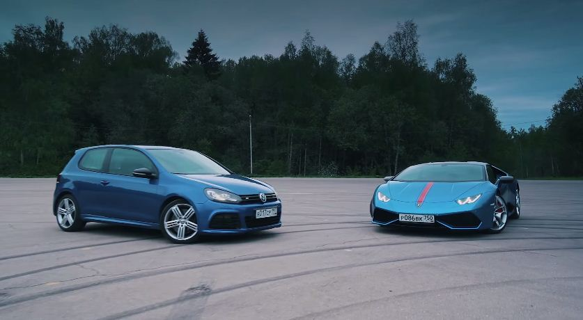 700hp VW Golf R vs Lamborghini Huracan
