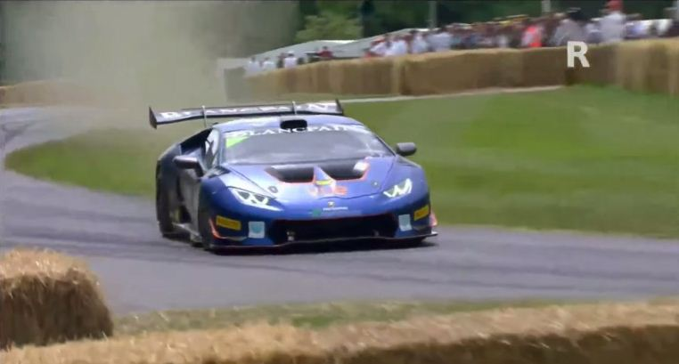 Lamborghini Huracan GT3 crashes at Goodwood Festival of Speed