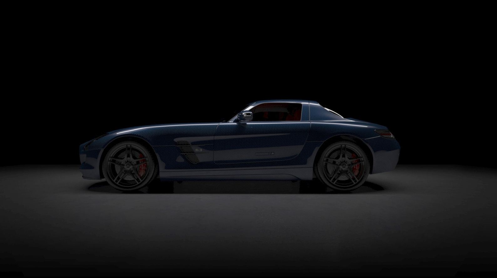 Bare Carbon Fiber Mercedes-Benz SLS AMG