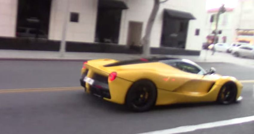 Arab LaFerrari drifting in Beverly Hills