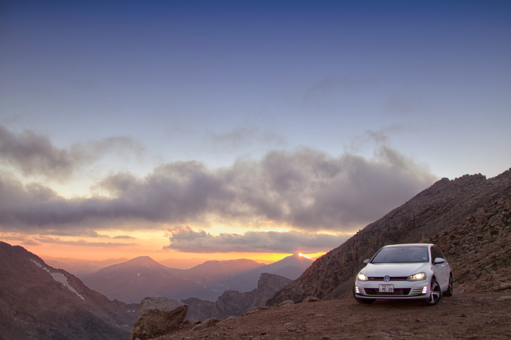 2015 VW Golf GTI at Mount Evans, CO