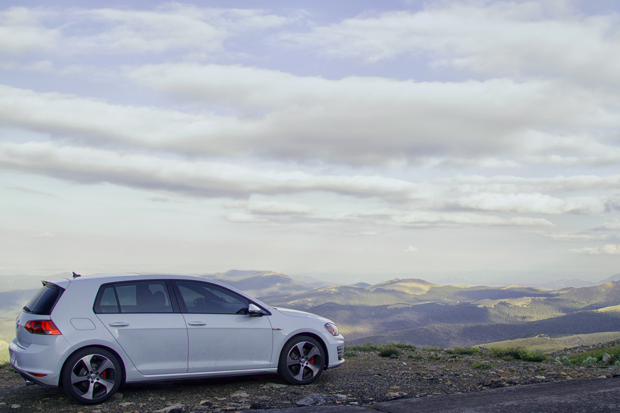 2015 VW Golf GTI at Mount Evans, CO