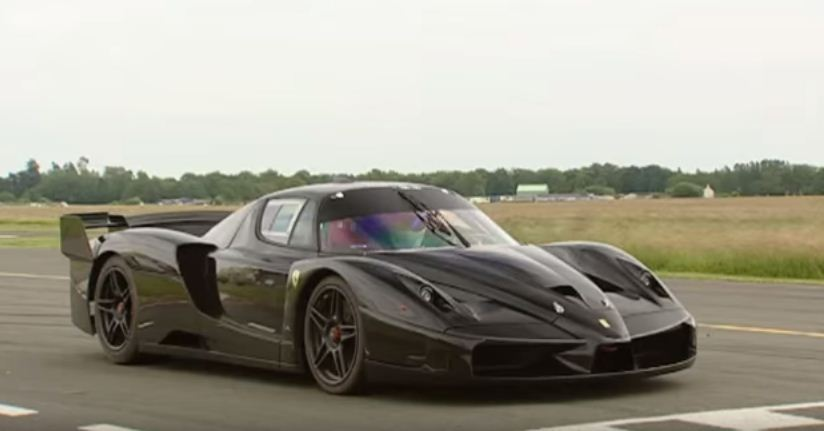 Ferrari FXX at Top Gear test track