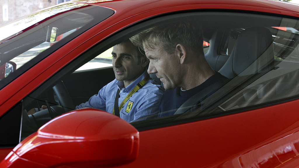 Gordon Ramsay checks out the Ferrari 488 GTB