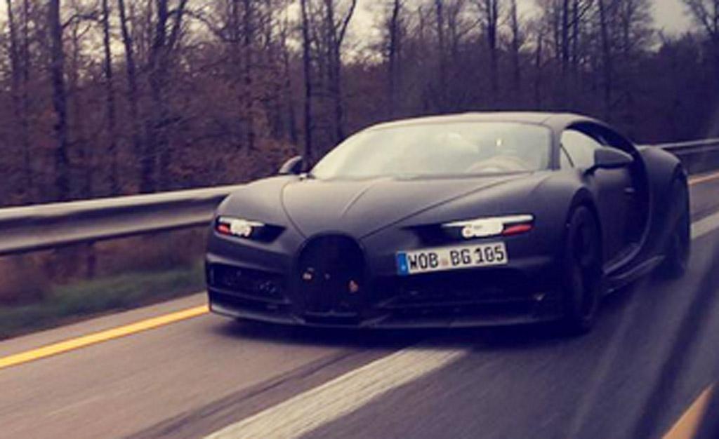 Bugatti Chiron prototype spied