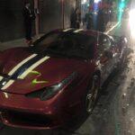 Steve Goldfield's Ferrari 458 Speciale crashed