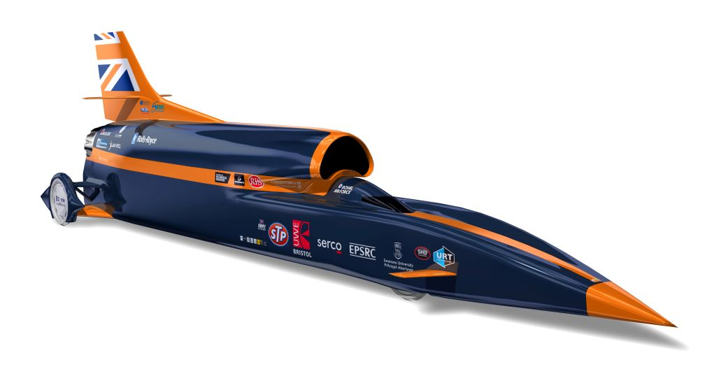 1000 mph Bloodhound SSC World Land Speed Record Car