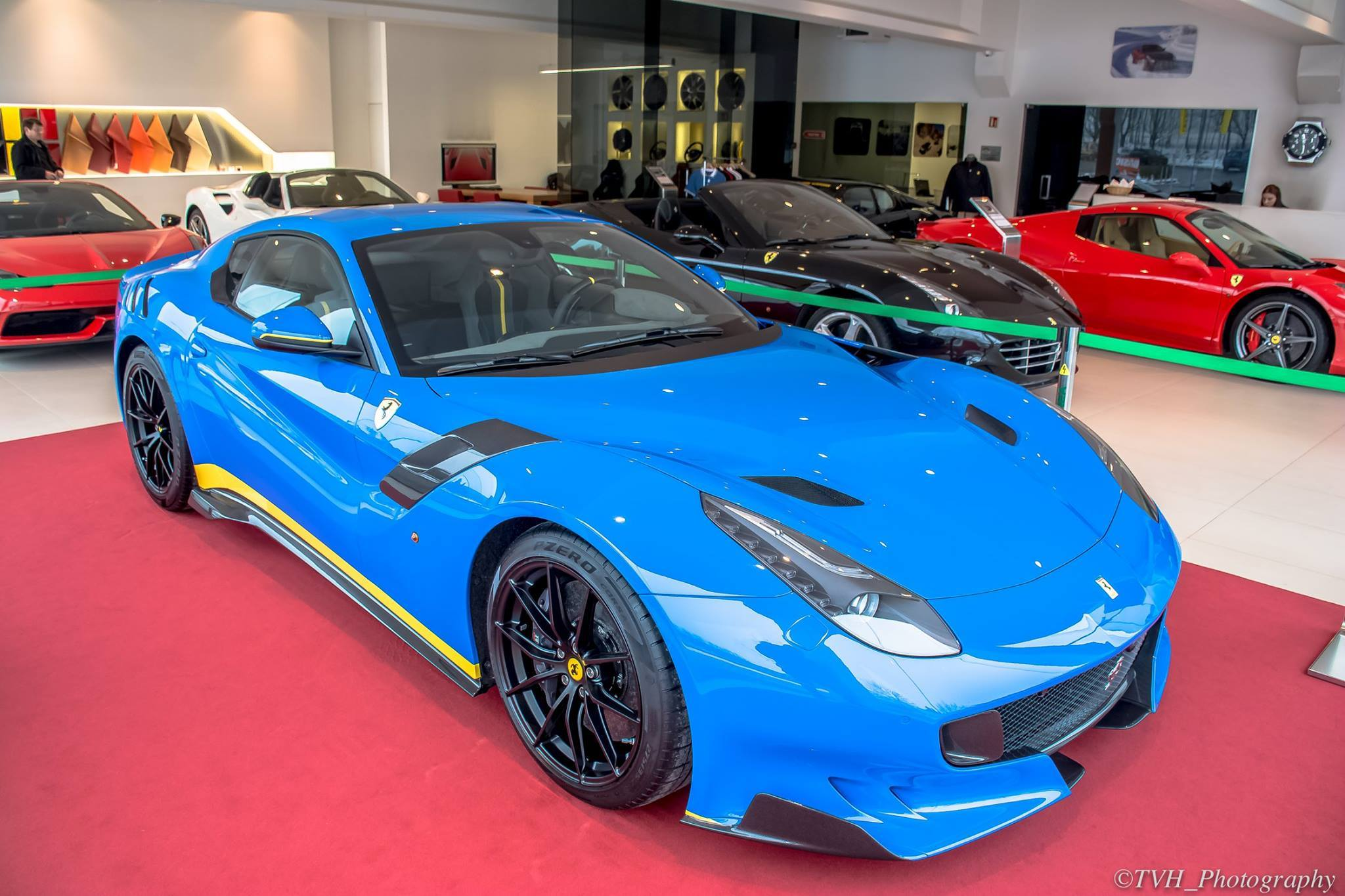 Blue Ferrari F12 Tdf Spotted In Luxembourg The Supercar Blog