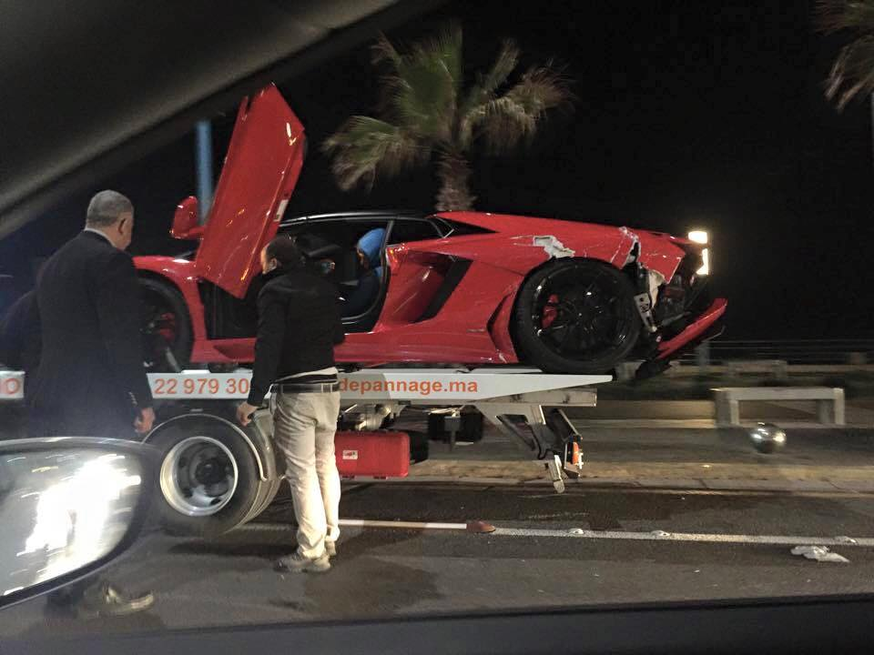 Lamborghini Aventador Roadster Crashed in Morocco