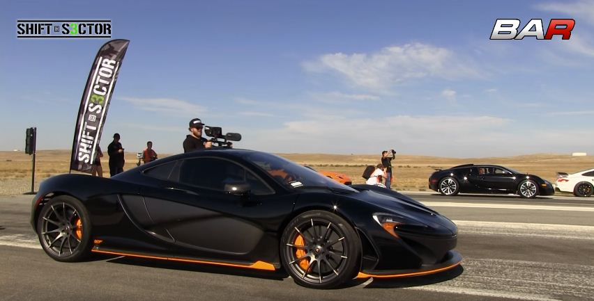 McLaren P1 vs Bugatti Veyron in World's Greatest Drag Race