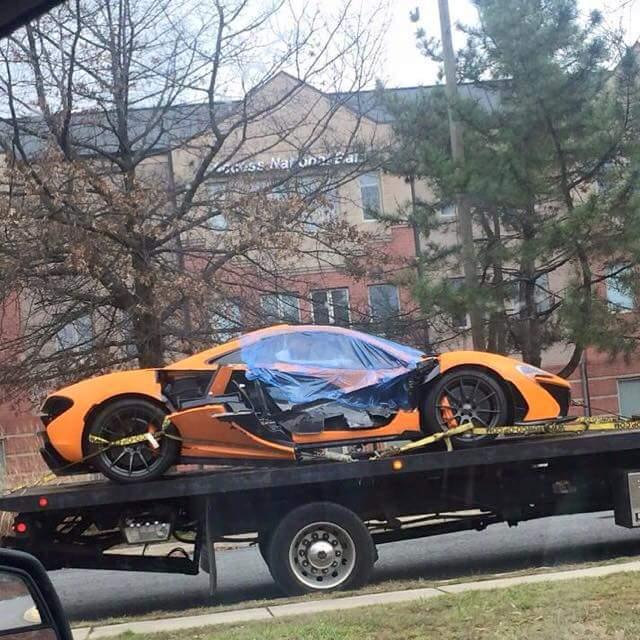 Arab Mclaren P1 crash in DC area