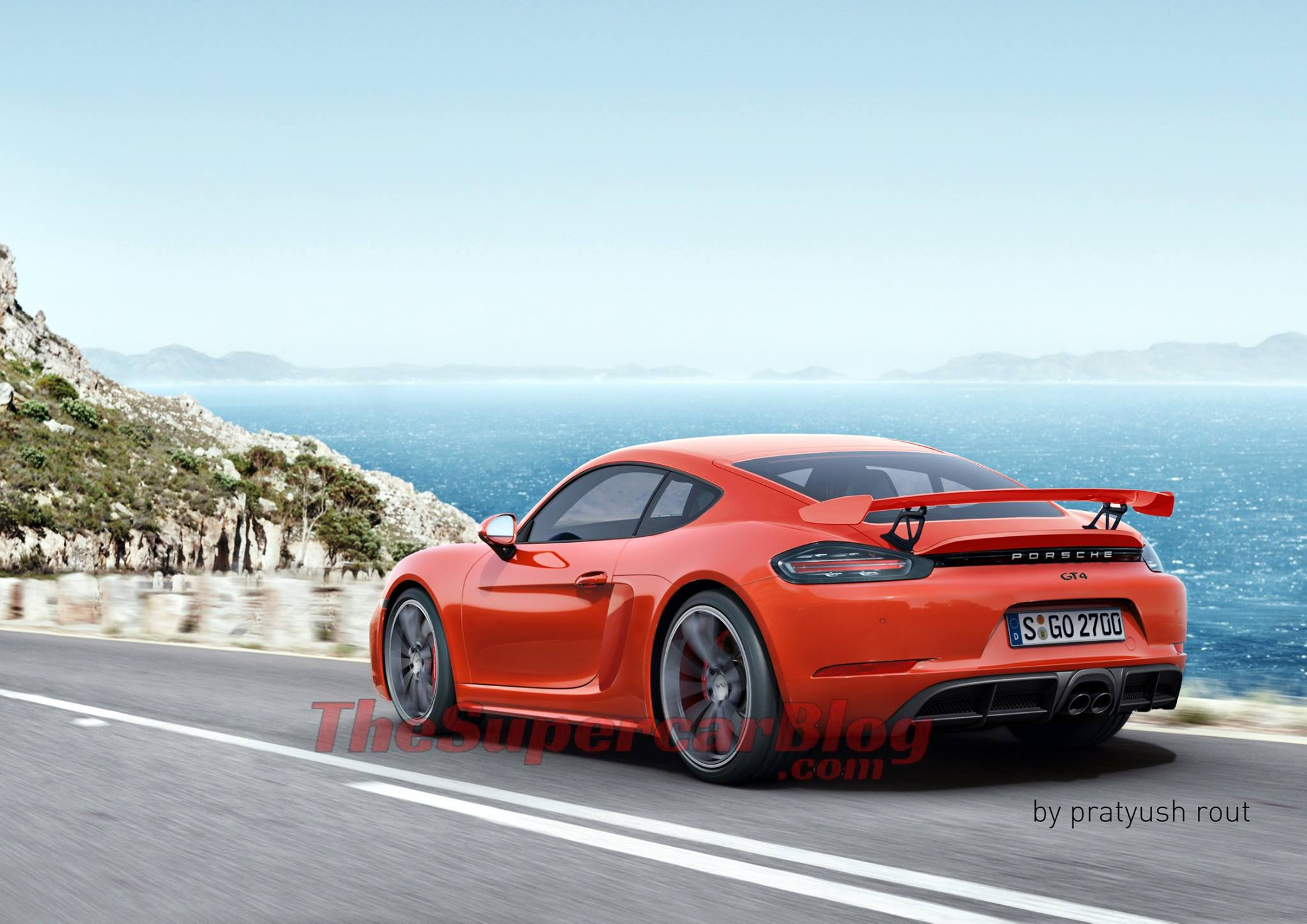 Next-Gen Porsche 718 Cayman GT4 rendering