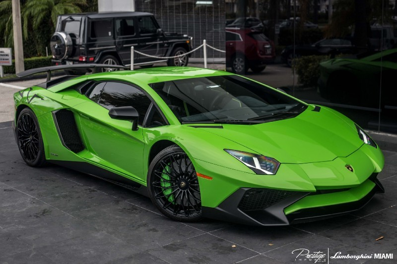 Green Lamborghini Aventador for sale in the US- Prestige Imports Miami-1