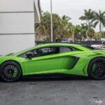 Green Lamborghini Aventador for sale in the US- Prestige Imports Miami-5