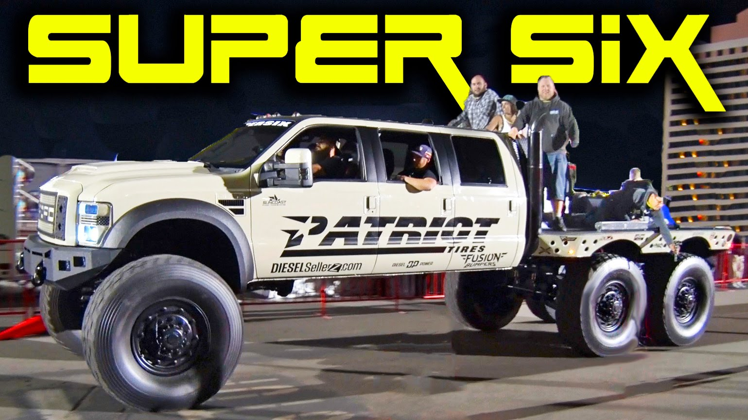 Super Six Patriot Ford Monster Truck 6x6x6