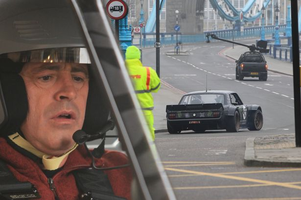 Matt LeBlanc Filming Top Gear with Ken Block in London -2