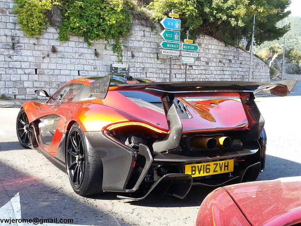 First road legal McLaren P1 GTR spotted in Monaco-1