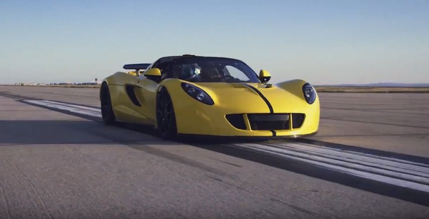 Hennessey Venom GT sets new world speed record