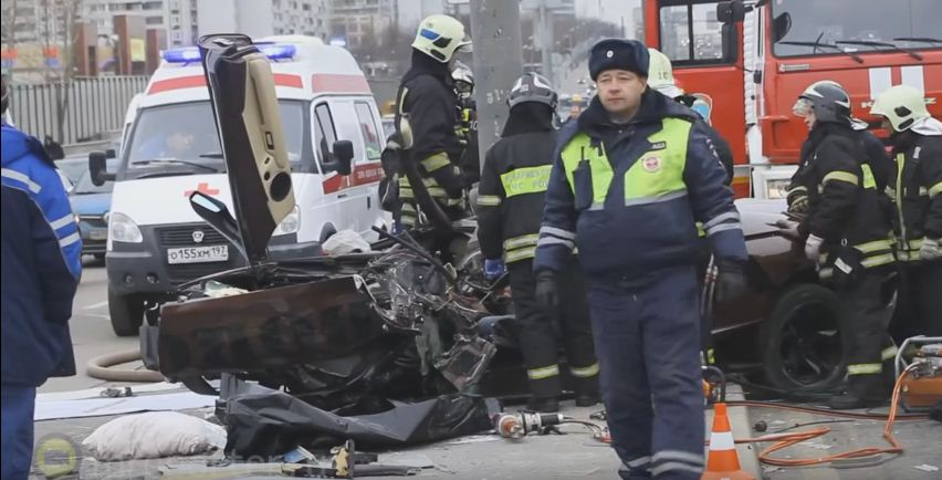 Lamborghini Murcielago crashed in Moscow