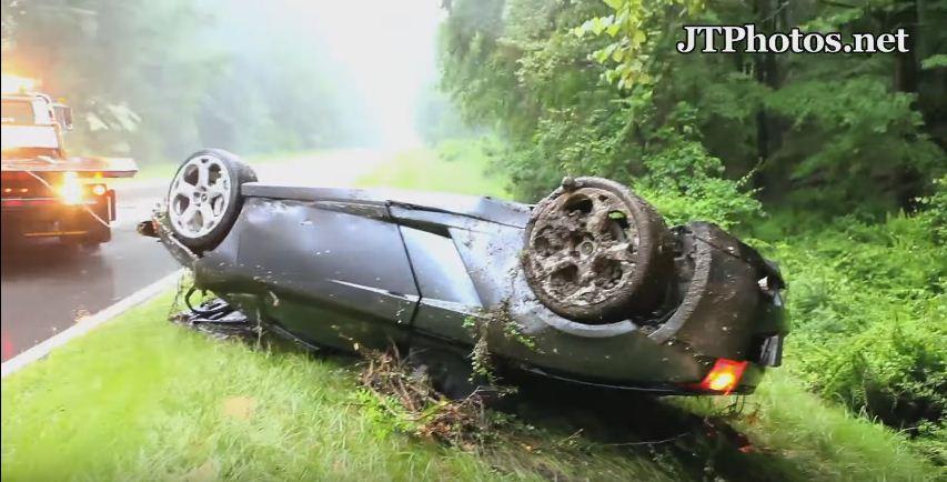 Lamborghini crash caught on tape 1
