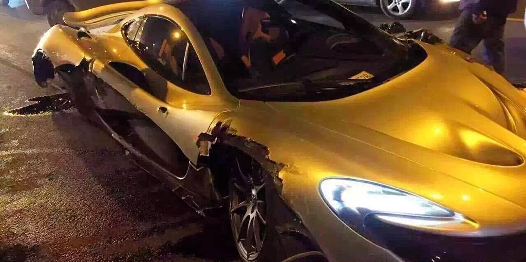 McLaren P1 crashed in China-1