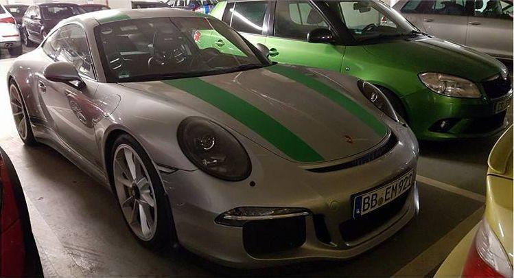 Boosted Boris spots rare Porsche 911 R at Nurburgring-2
