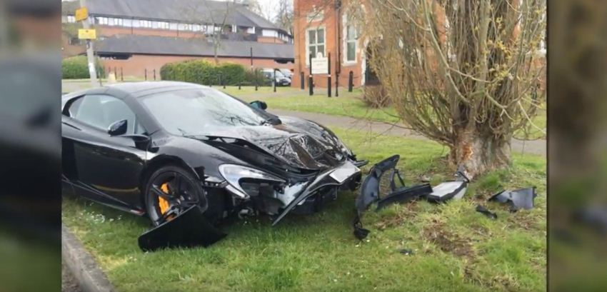 McLaren 650S crashed in the UK