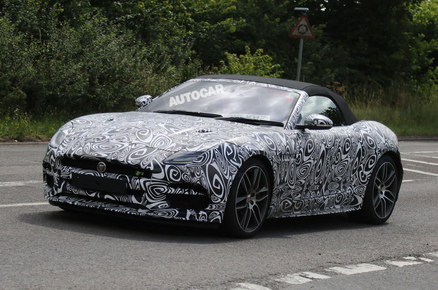 Jaguar F-Type R facelift spy shots-1