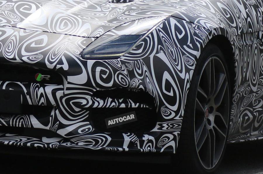 Jaguar F-Type R facelift spy shots-2