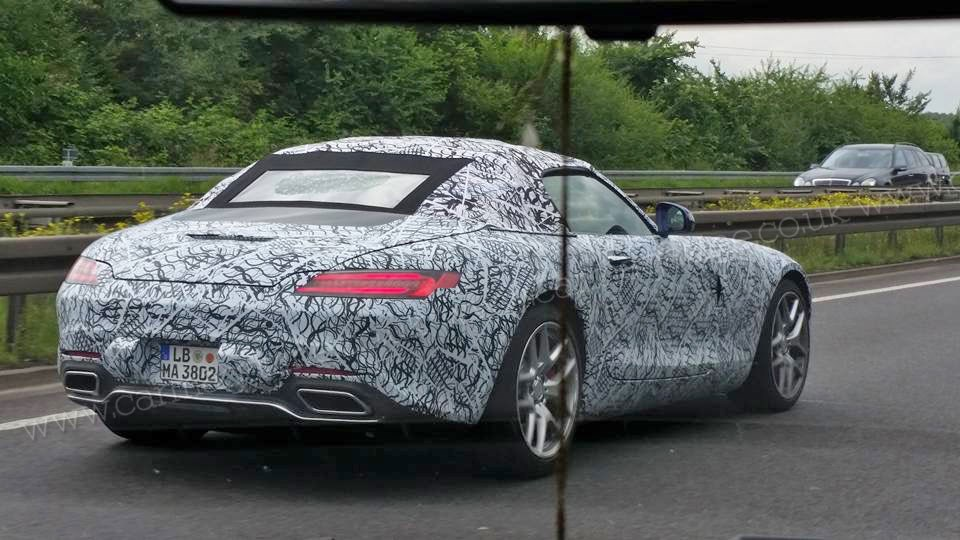 Mercedes-AMG GT Roadster spy shots-2