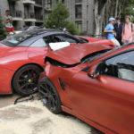 Lithuanian BMW M4 crashes into Ferrari California-2