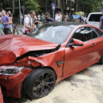 Lithuanian BMW M4 crashes into Ferrari California-4