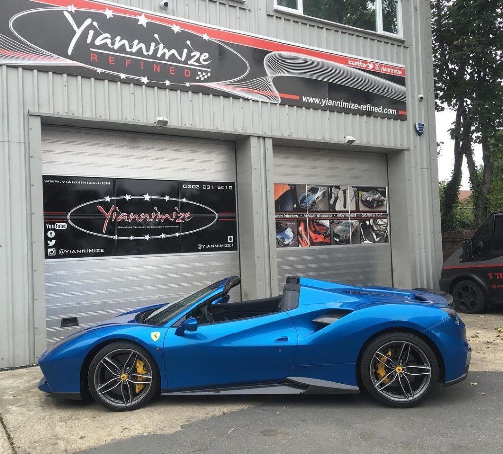 Yianni Ferrari 488 Spider 1