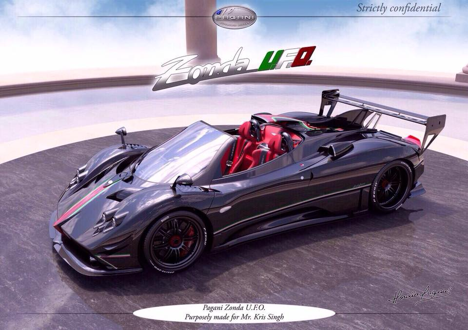kris singh adds pagani zonda ufo to his supercar collection - the